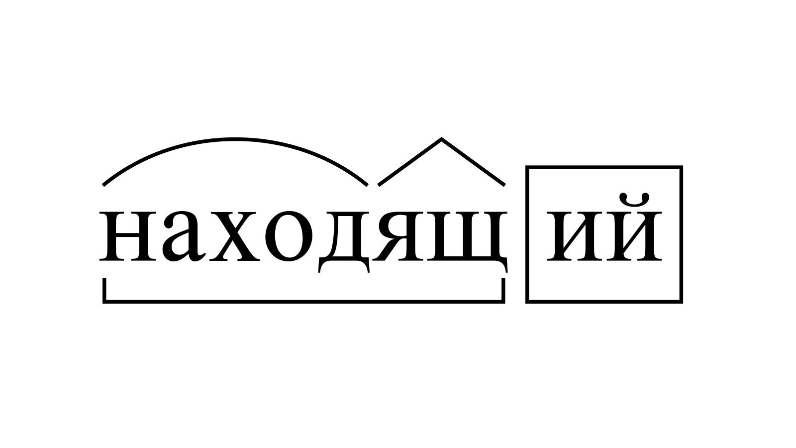 Разбор слова «находящий» по составу