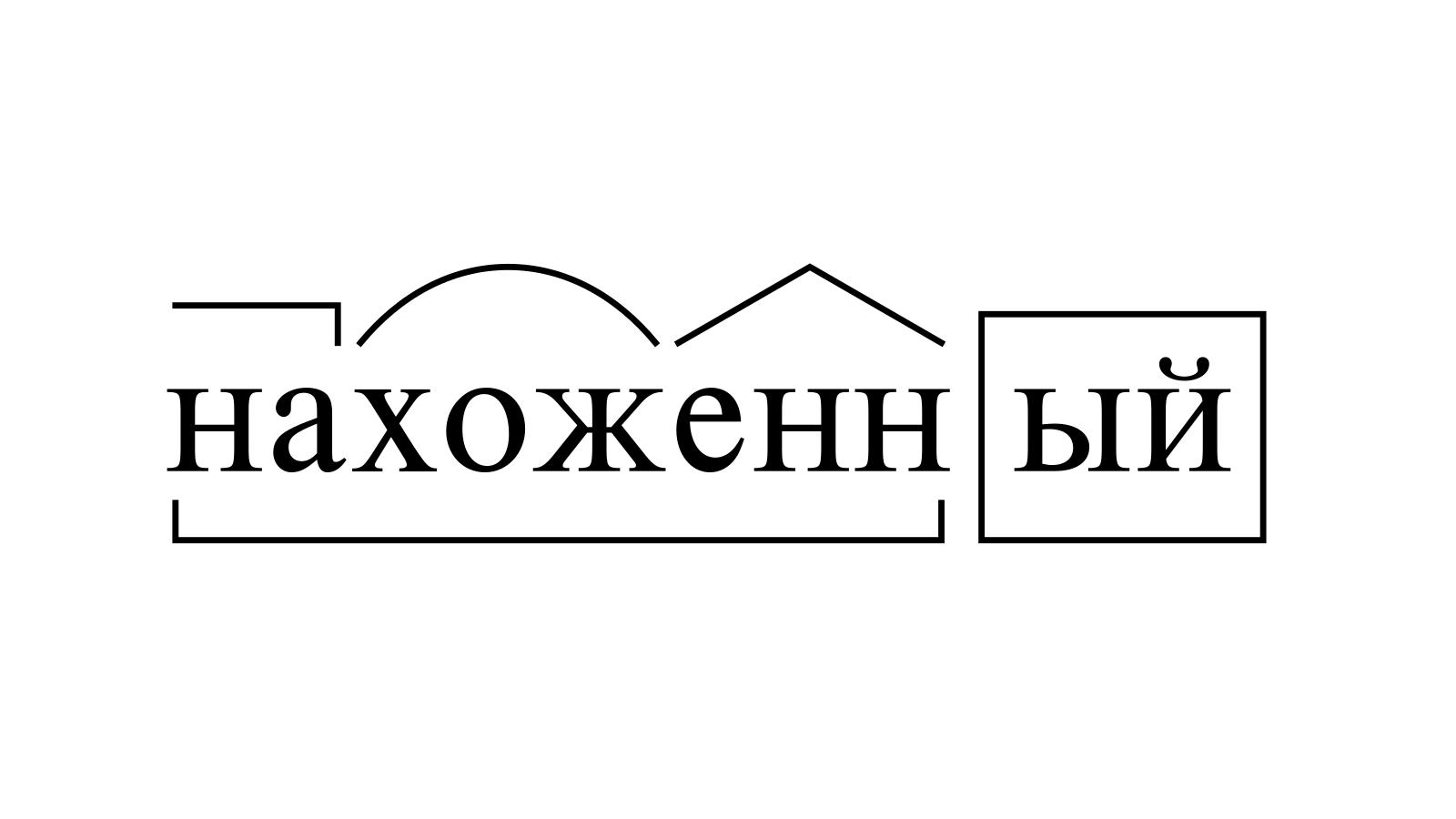 Разбор слова «нахоженный» по составу