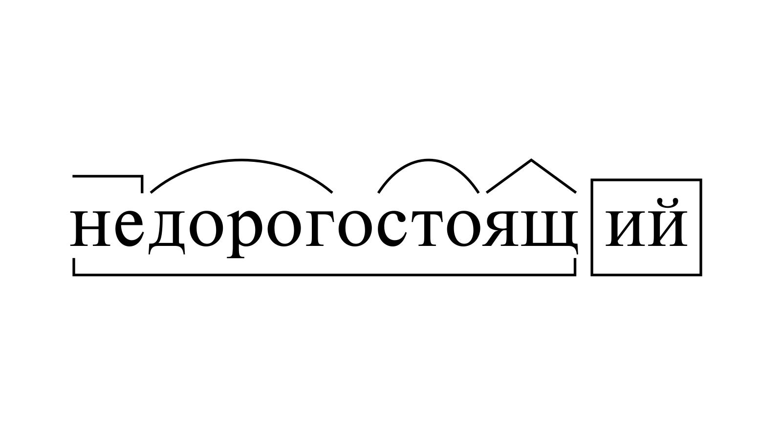 Разбор слова «недорогостоящий» по составу