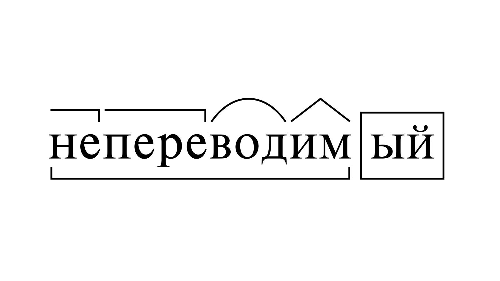 Разбор слова «непереводимый» по составу