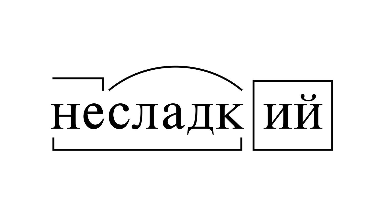 Разбор слова «несладкий» по составу
