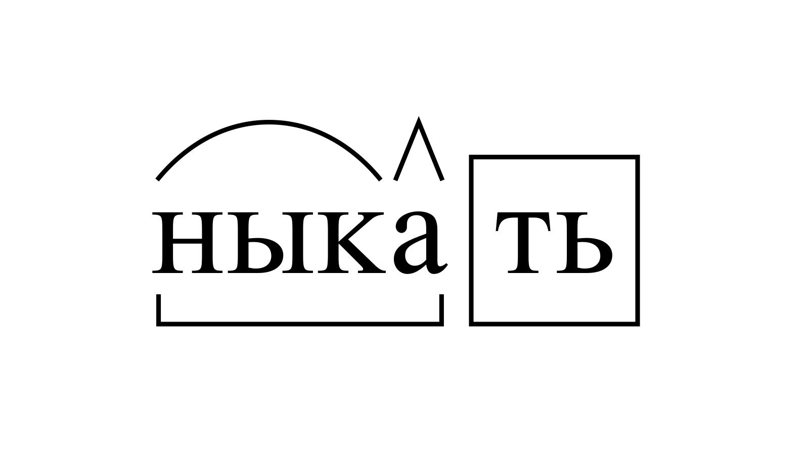 Разбор слова «ныкать» по составу