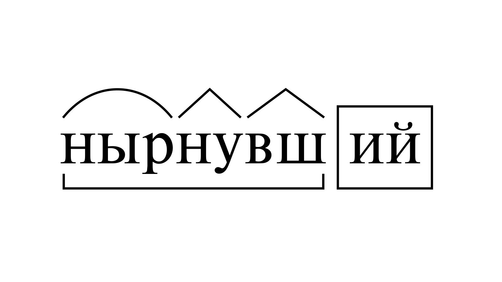 Разбор слова «нырнувший» по составу
