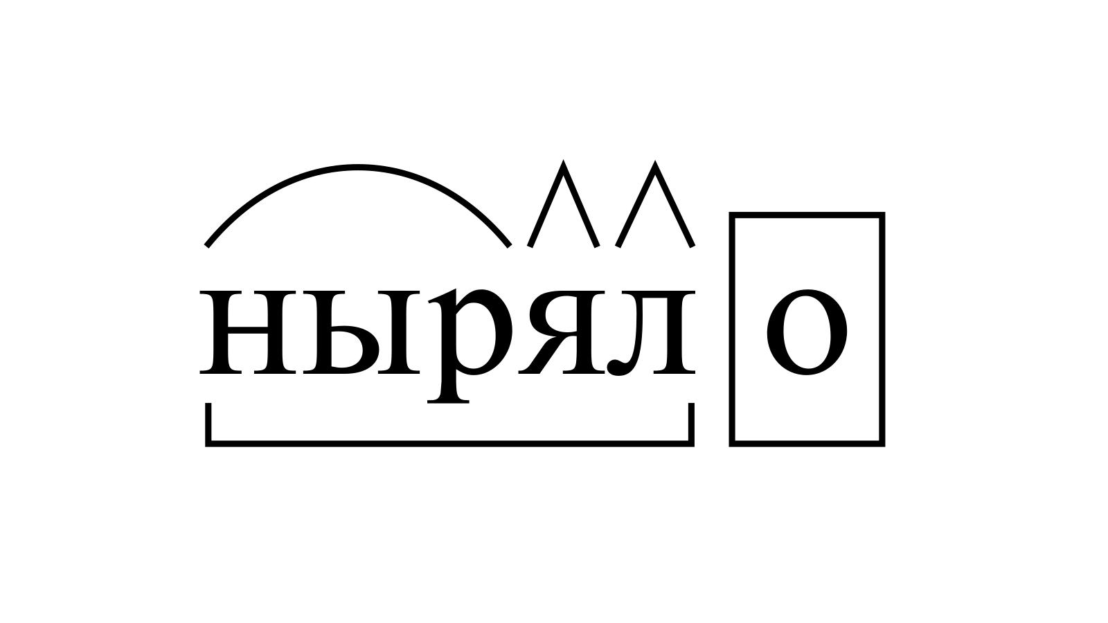 Разбор слова «ныряло» по составу