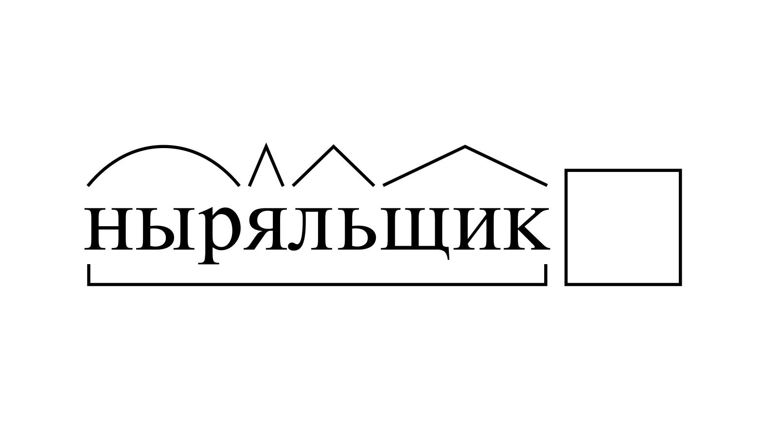 Разбор слова «ныряльщик» по составу