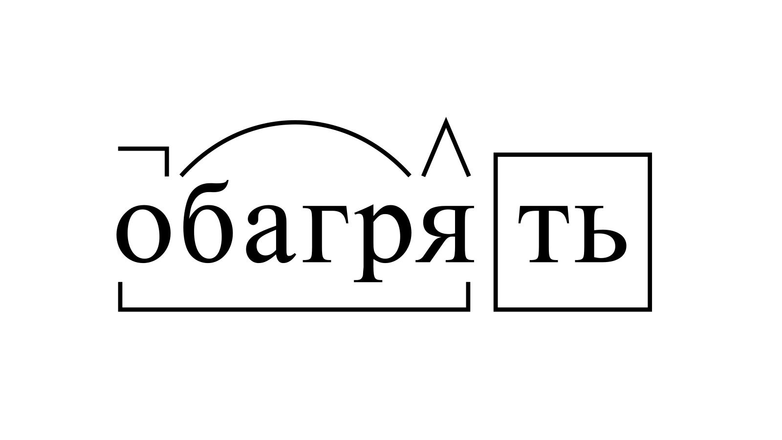 Разбор слова «обагрять» по составу