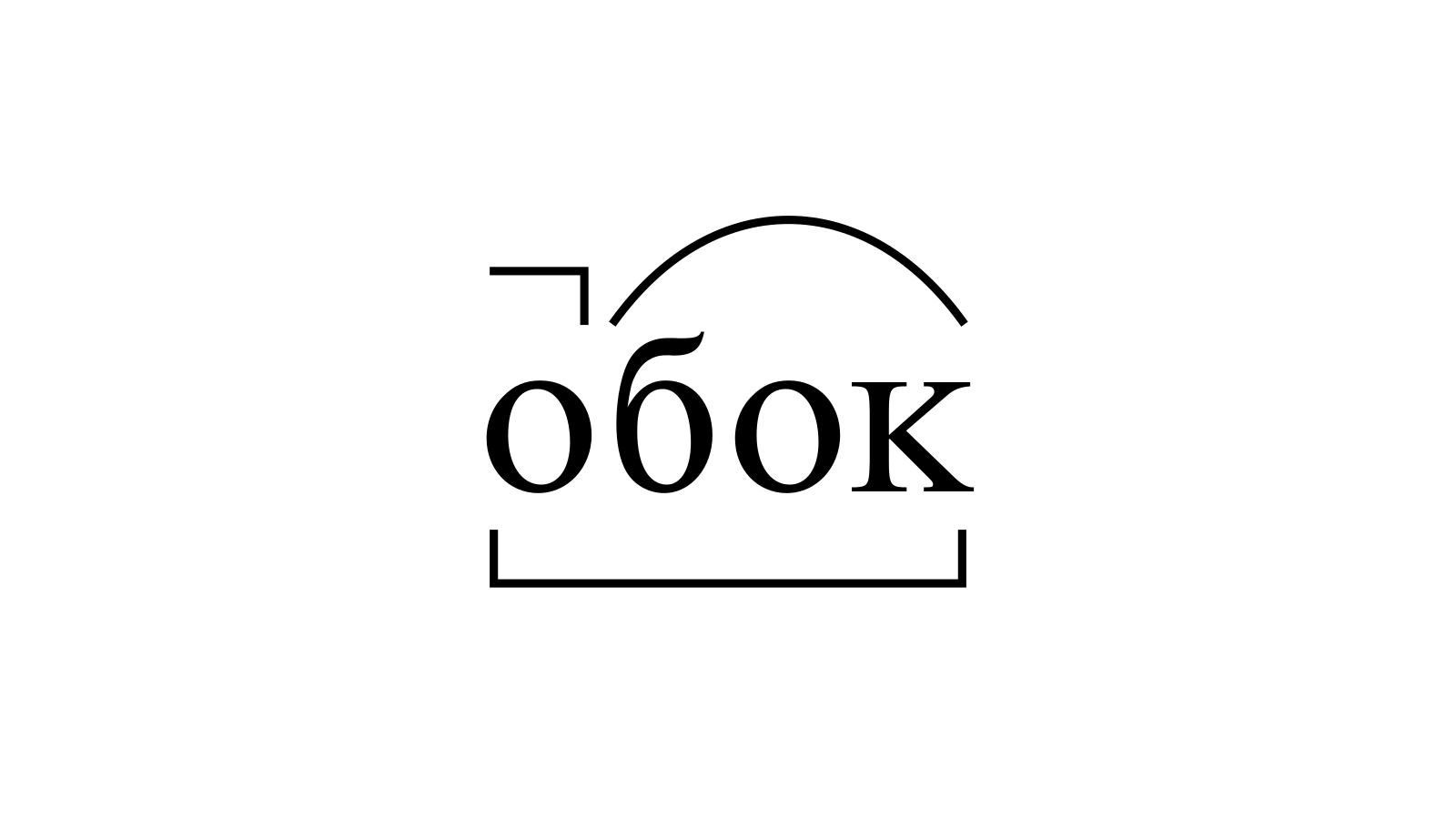 Разбор слова «обок» по составу
