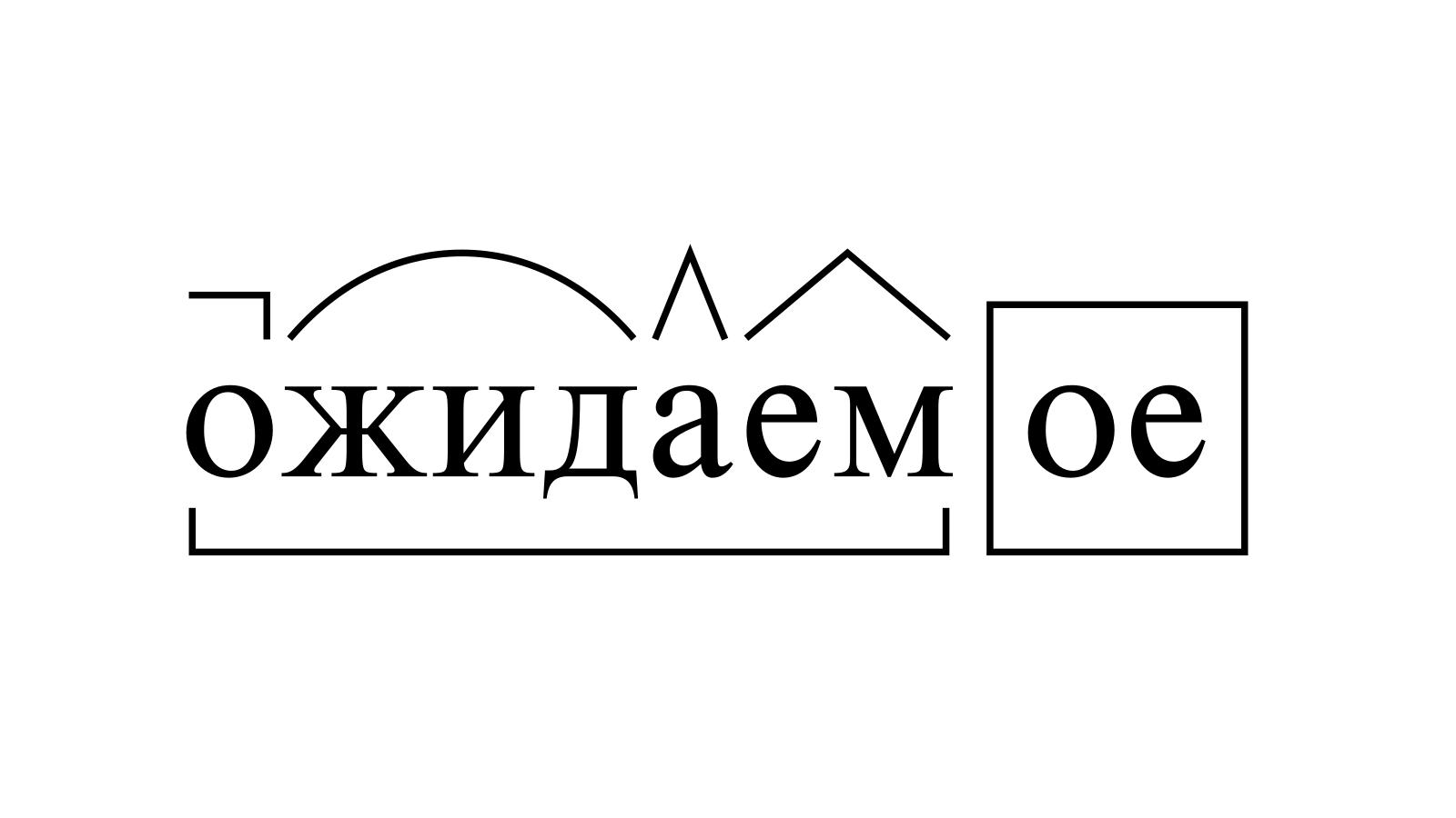 Разбор слова «ожидаемое» по составу