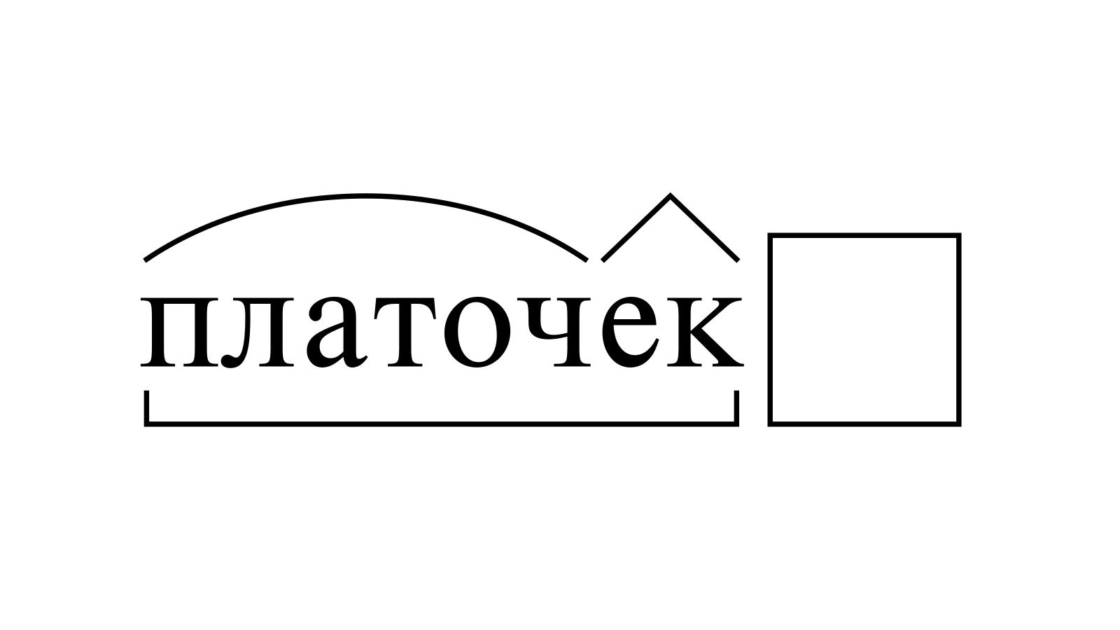 Разбор слова «платочек» по составу