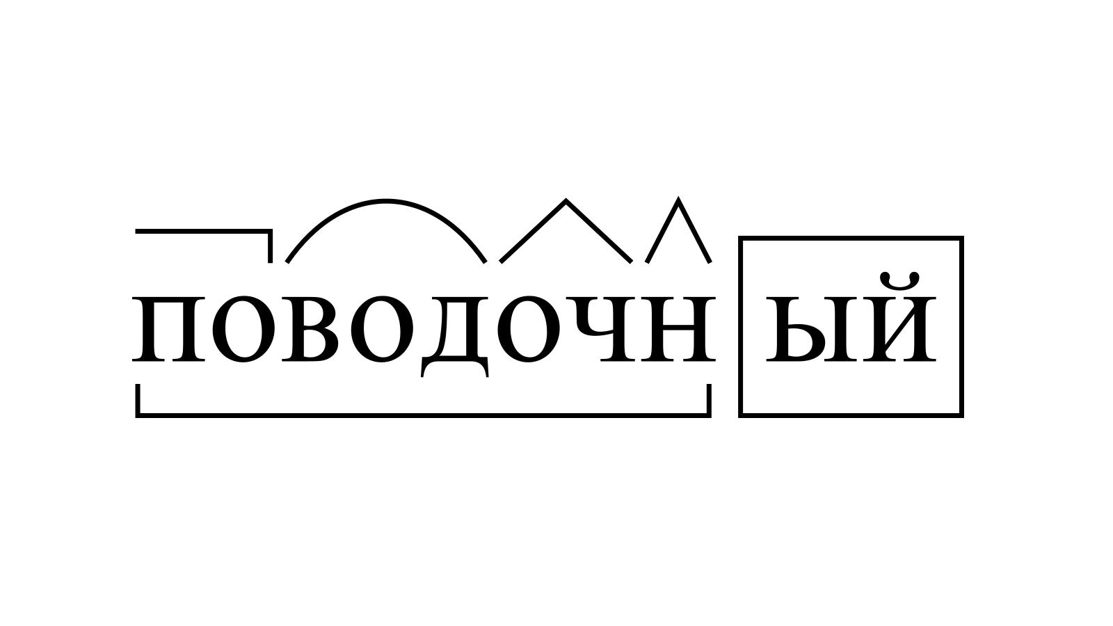 Разбор слова «поводочный» по составу