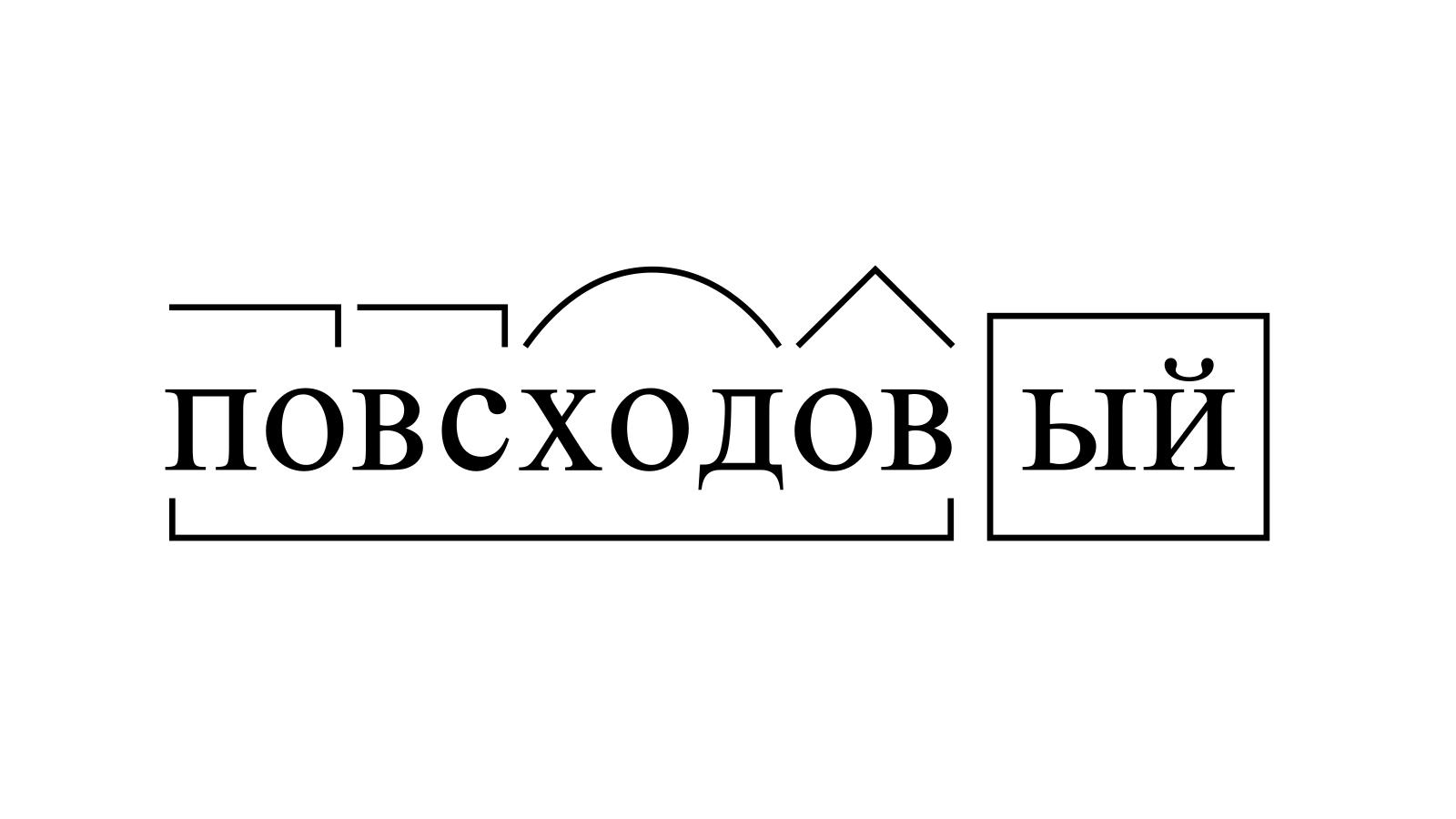 Разбор слова «повсходовый» по составу