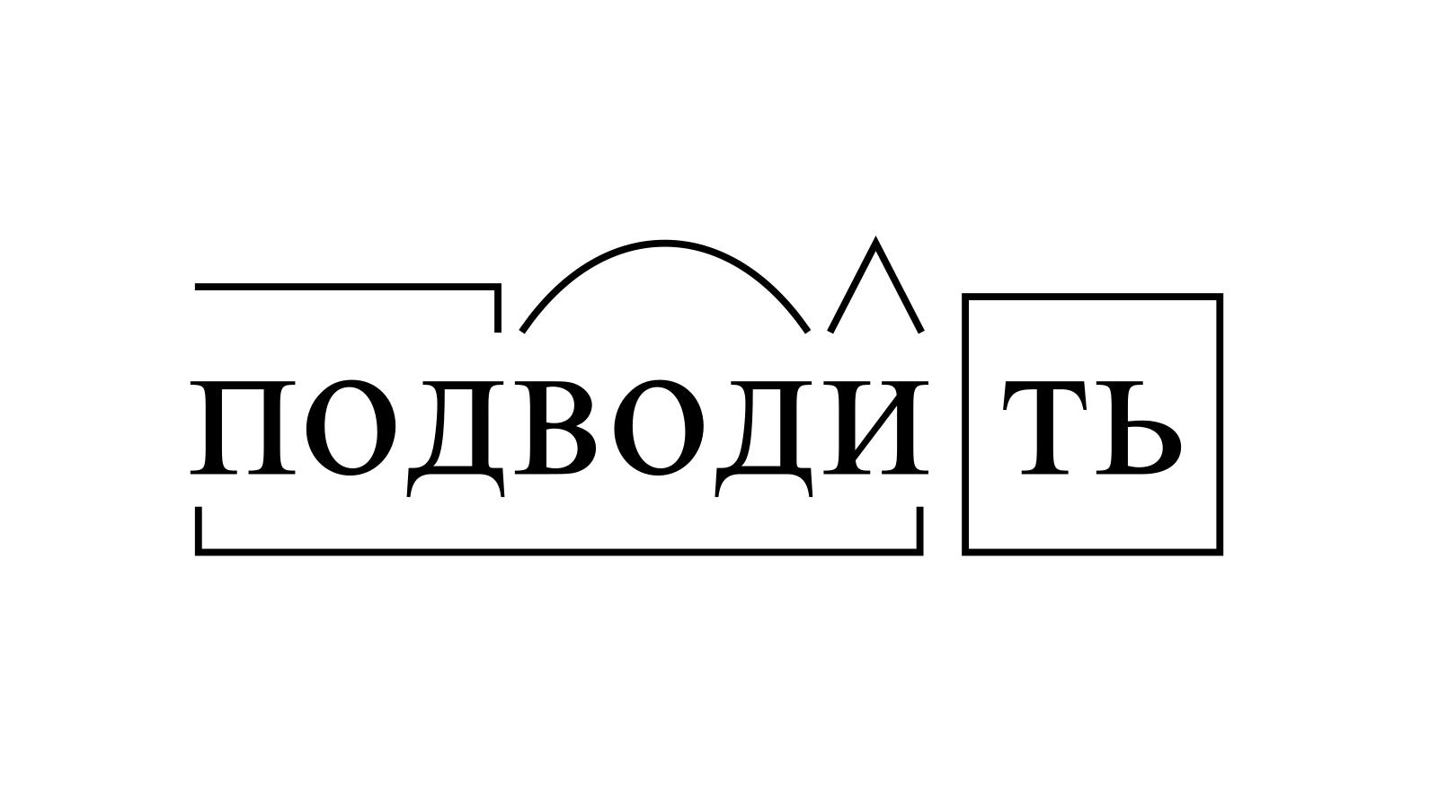 Разбор слова «подводить» по составу