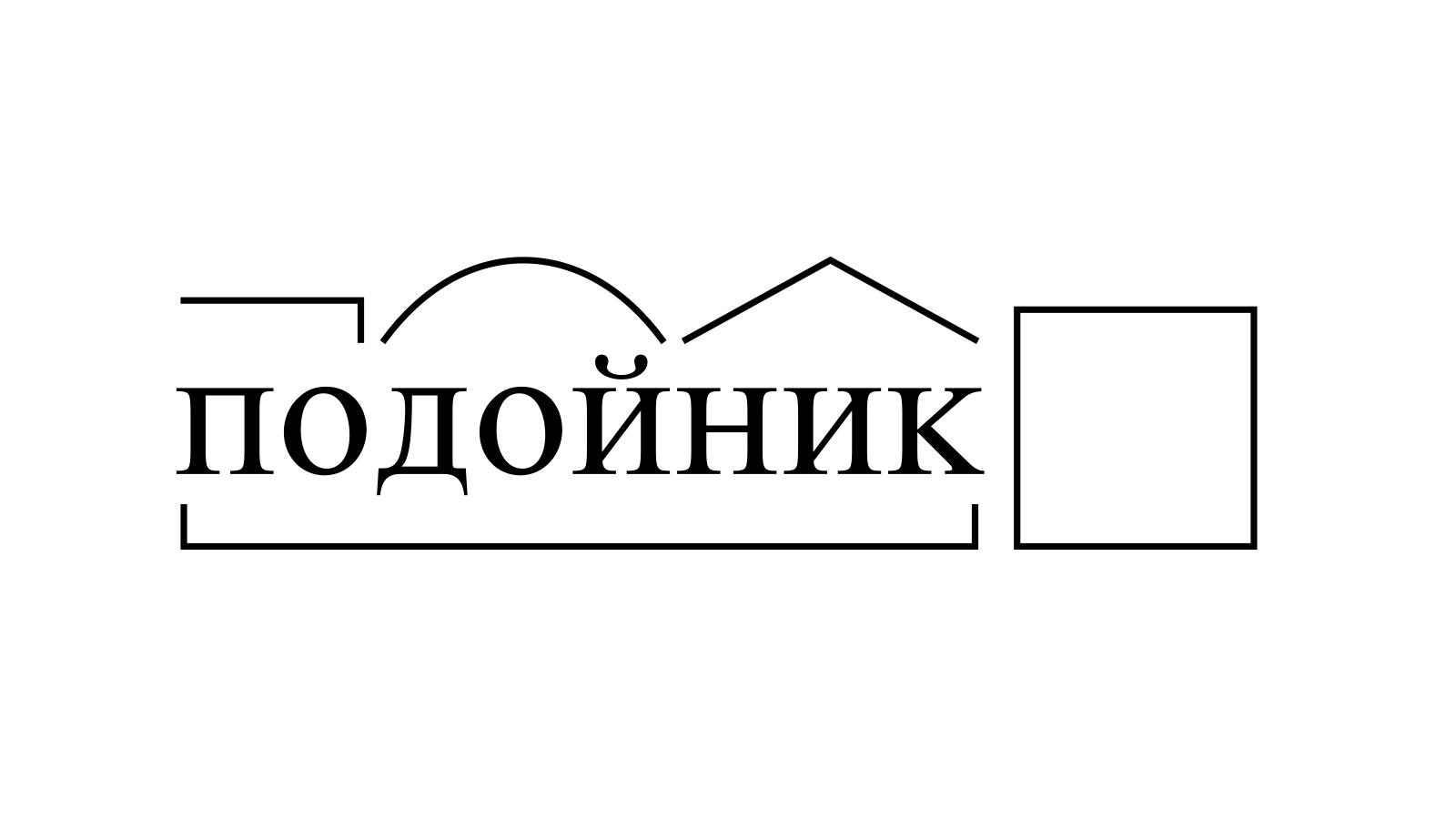 Разбор слова «подойник» по составу