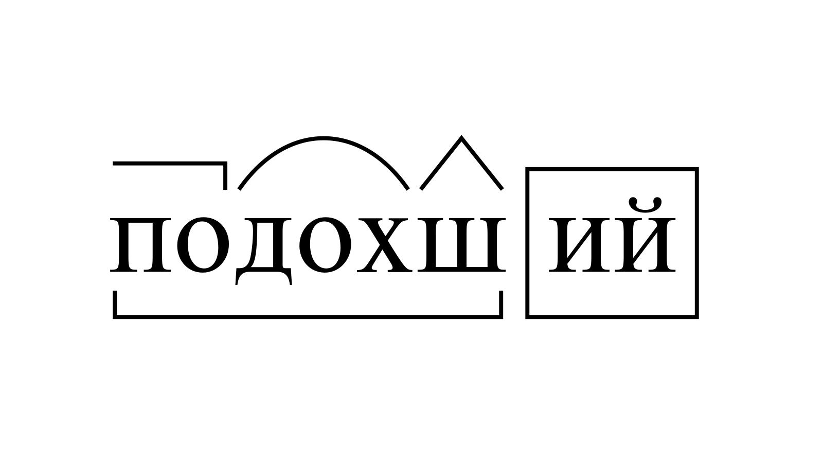 Разбор слова «подохший» по составу