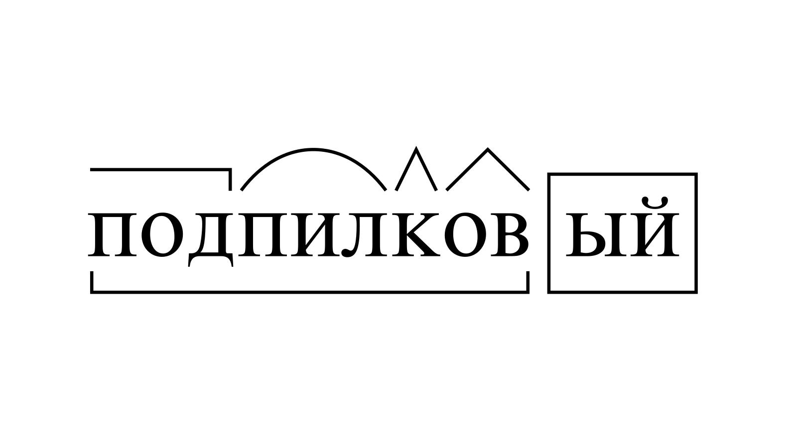 Разбор слова «подпилковый» по составу