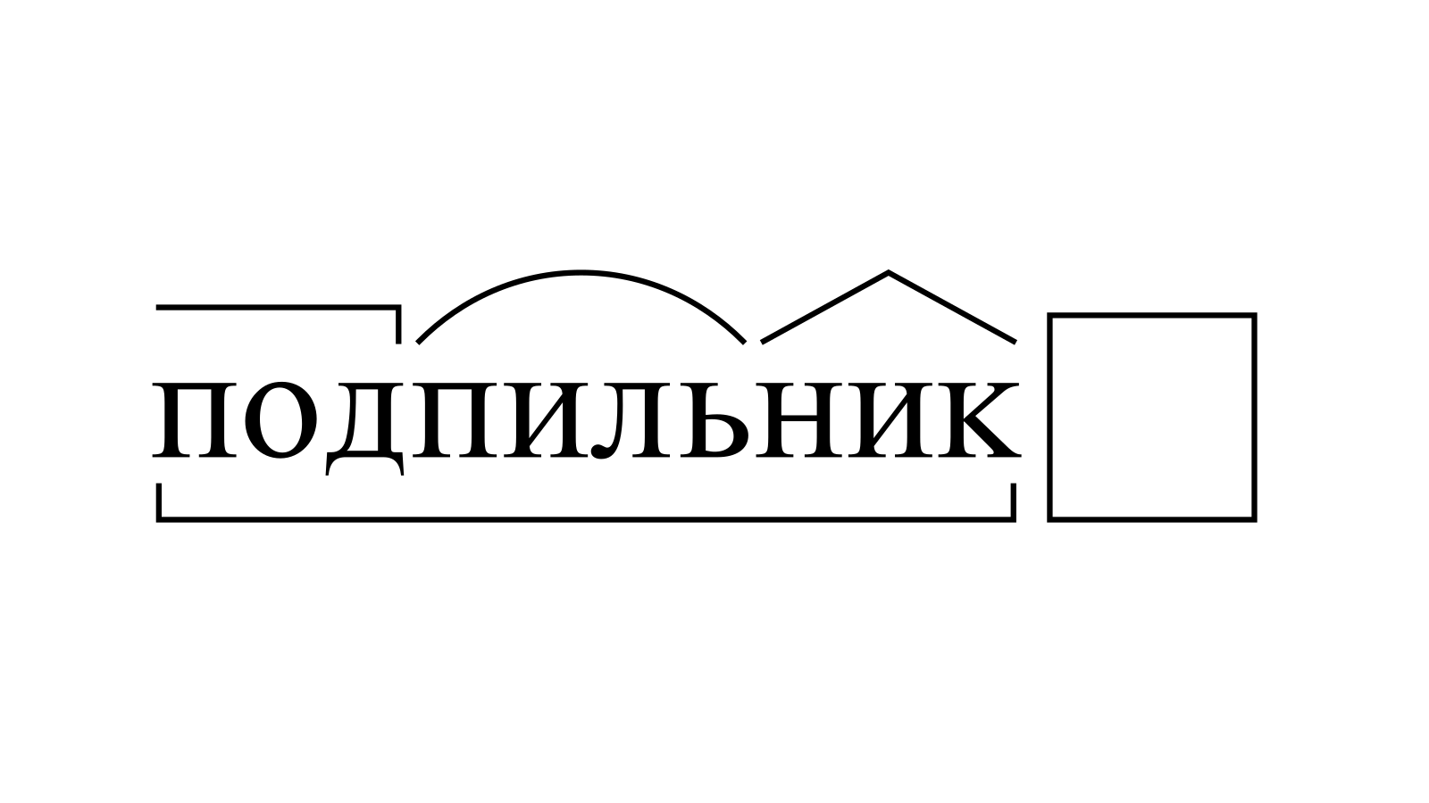 Разбор слова «подпильник» по составу