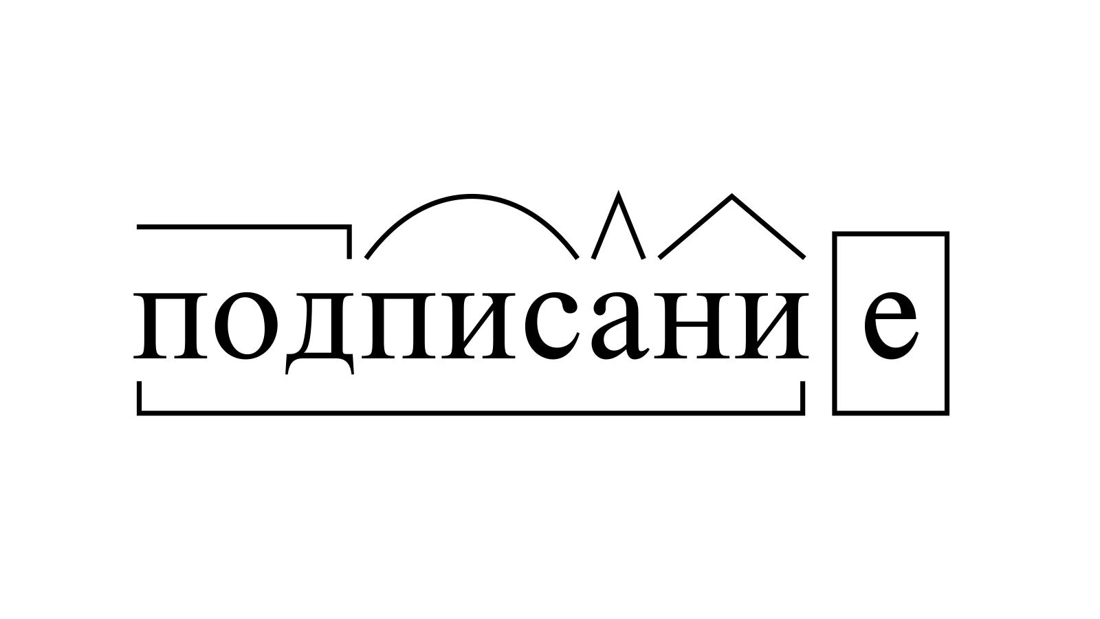 Разбор слова «подписание» по составу