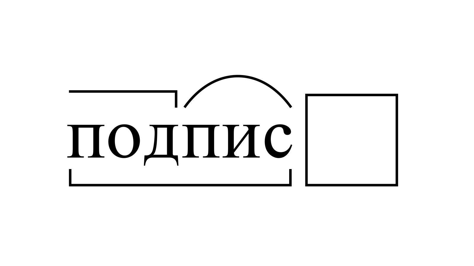 Разбор слова «подпис» по составу