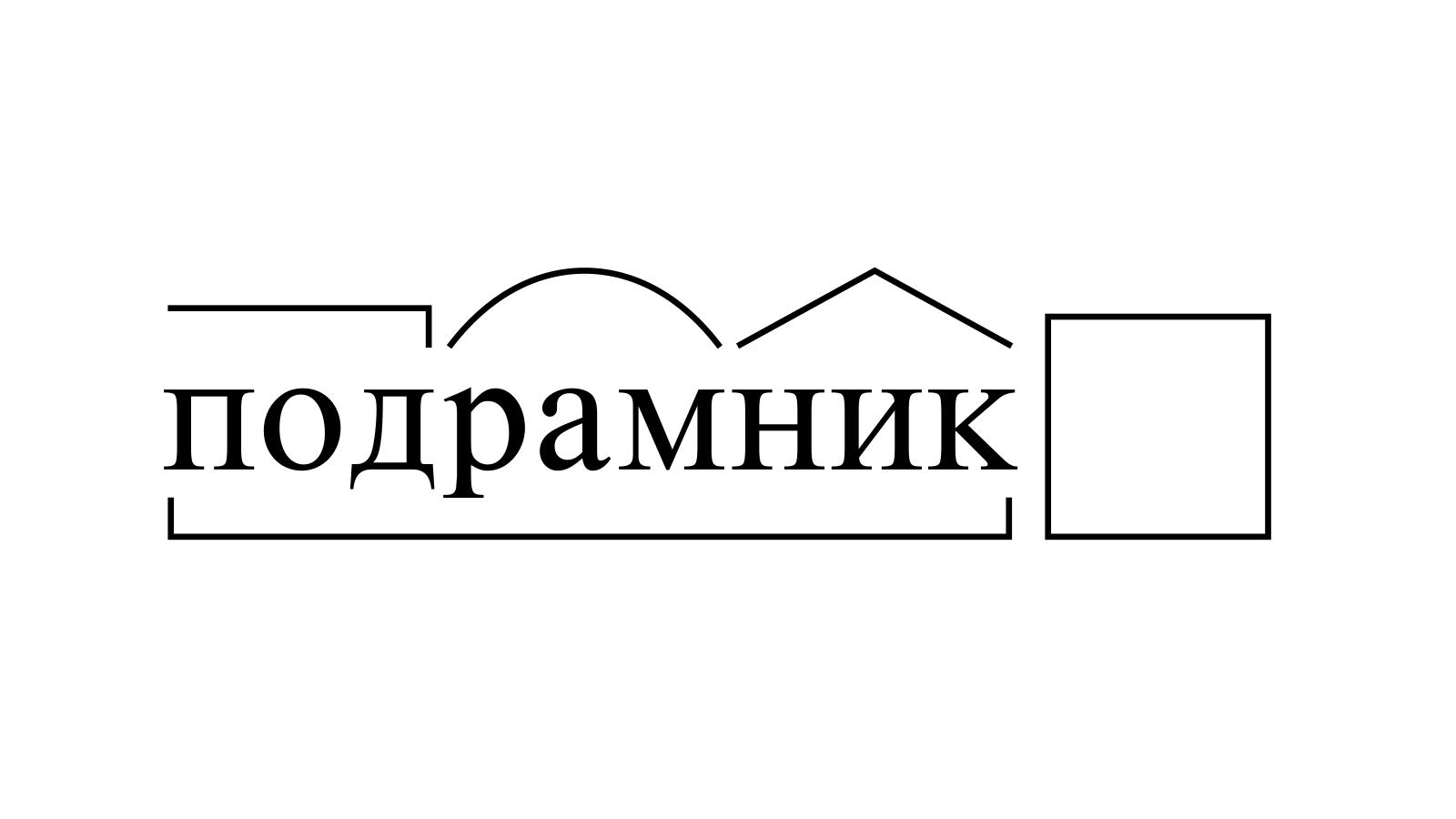Разбор слова «подрамник» по составу