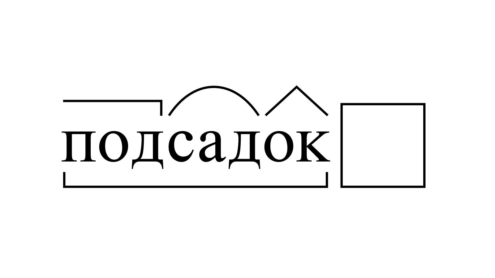 Разбор слова «подсадок» по составу