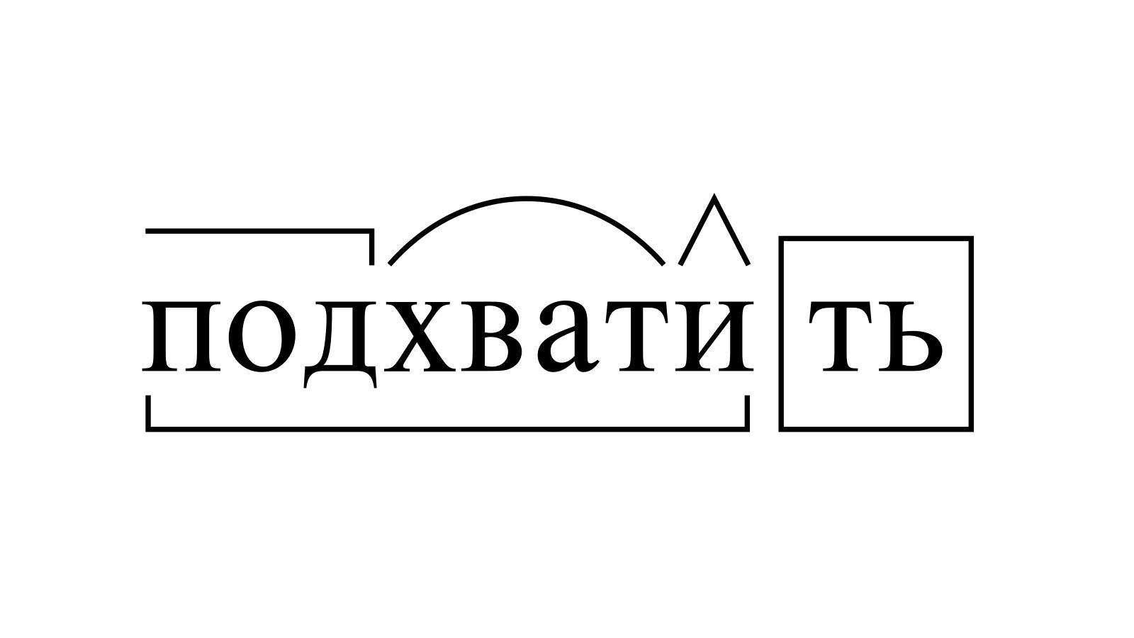Разбор слова «подхватить» по составу