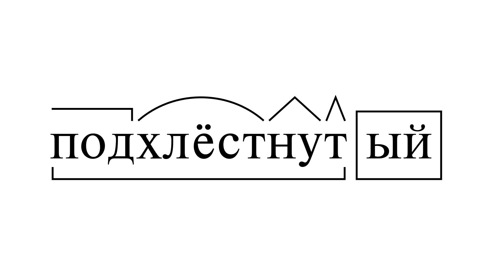 Разбор слова «подхлёстнутый» по составу