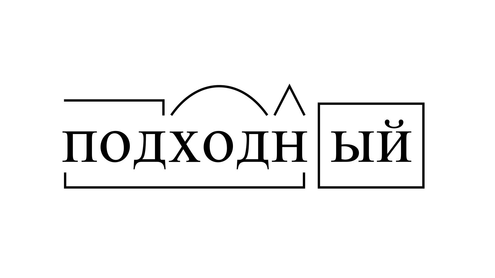 Разбор слова «подходный» по составу