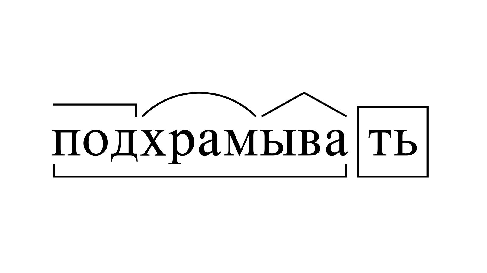Разбор слова «подхрамывать» по составу
