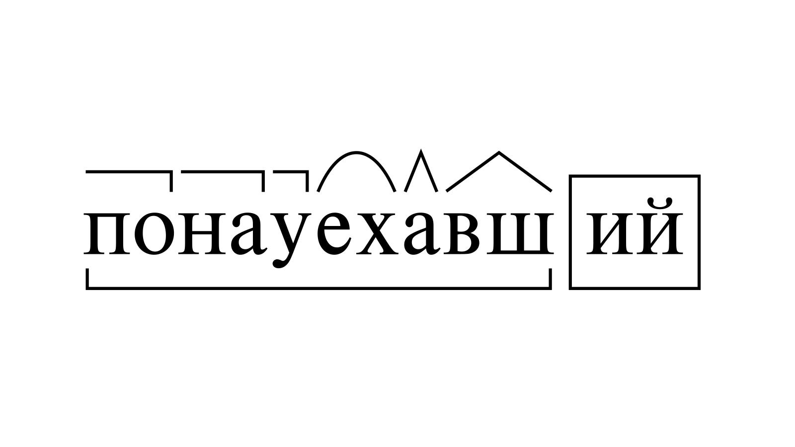 Разбор слова «понауехавший» по составу