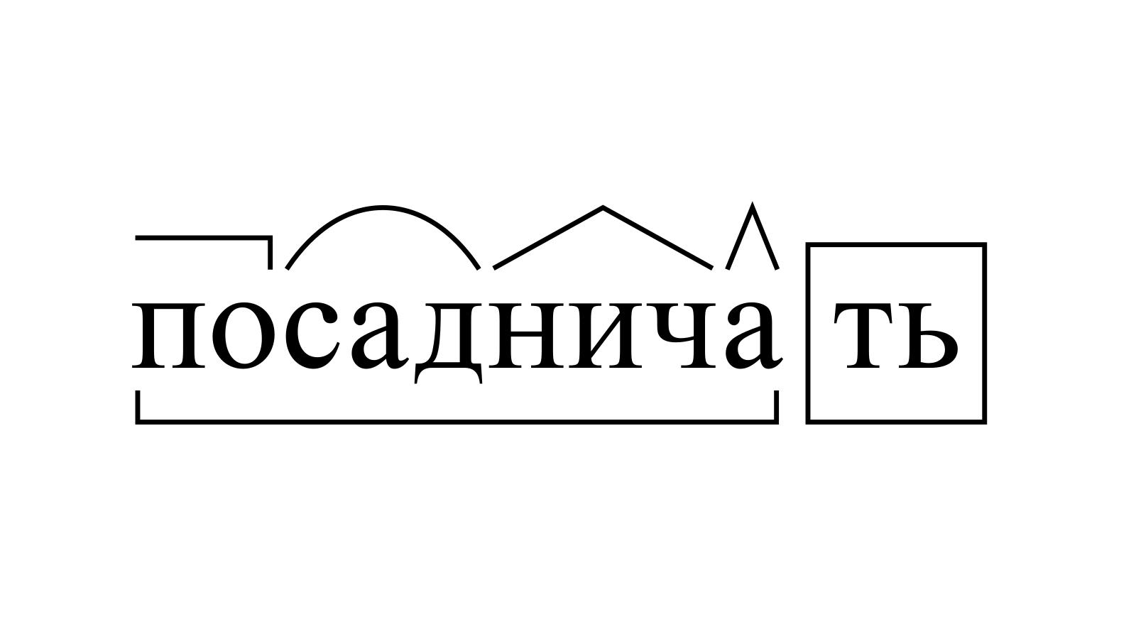 Разбор слова «посадничать» по составу