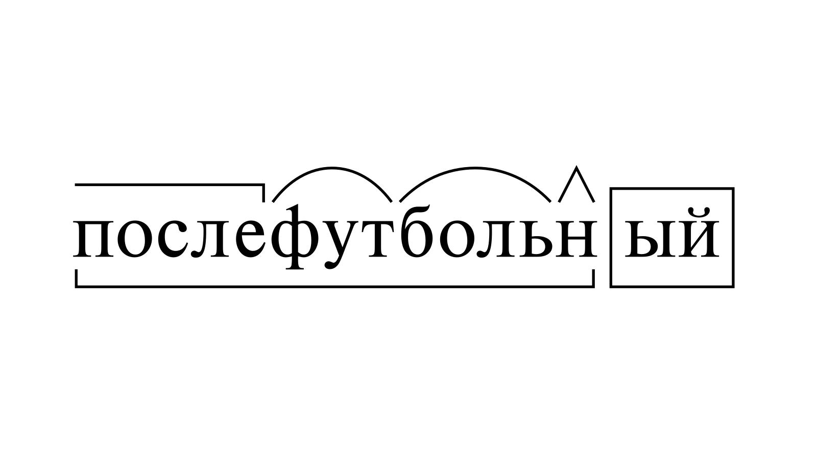 Разбор слова «послефутбольный» по составу