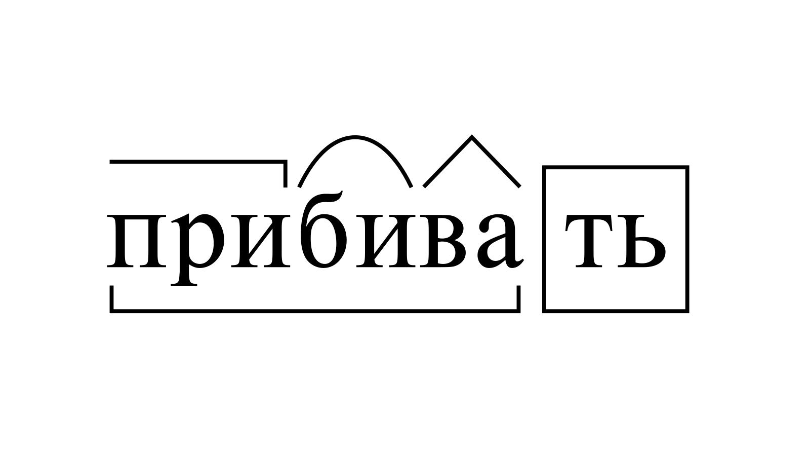Разбор слова «прибивать» по составу