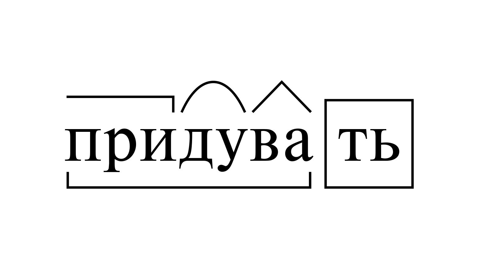 Разбор слова «придувать» по составу