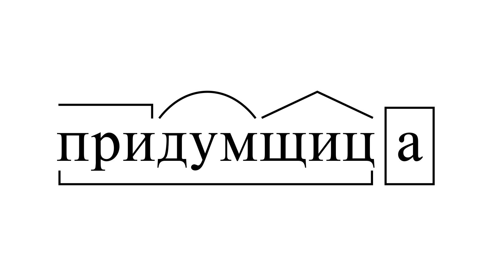 Разбор слова «придумщица» по составу