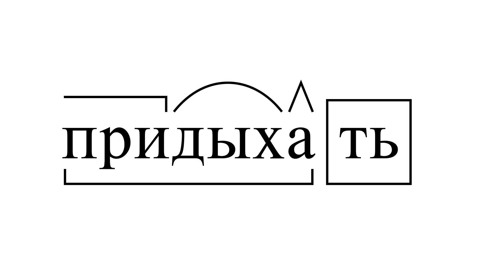 Разбор слова «придыхать» по составу