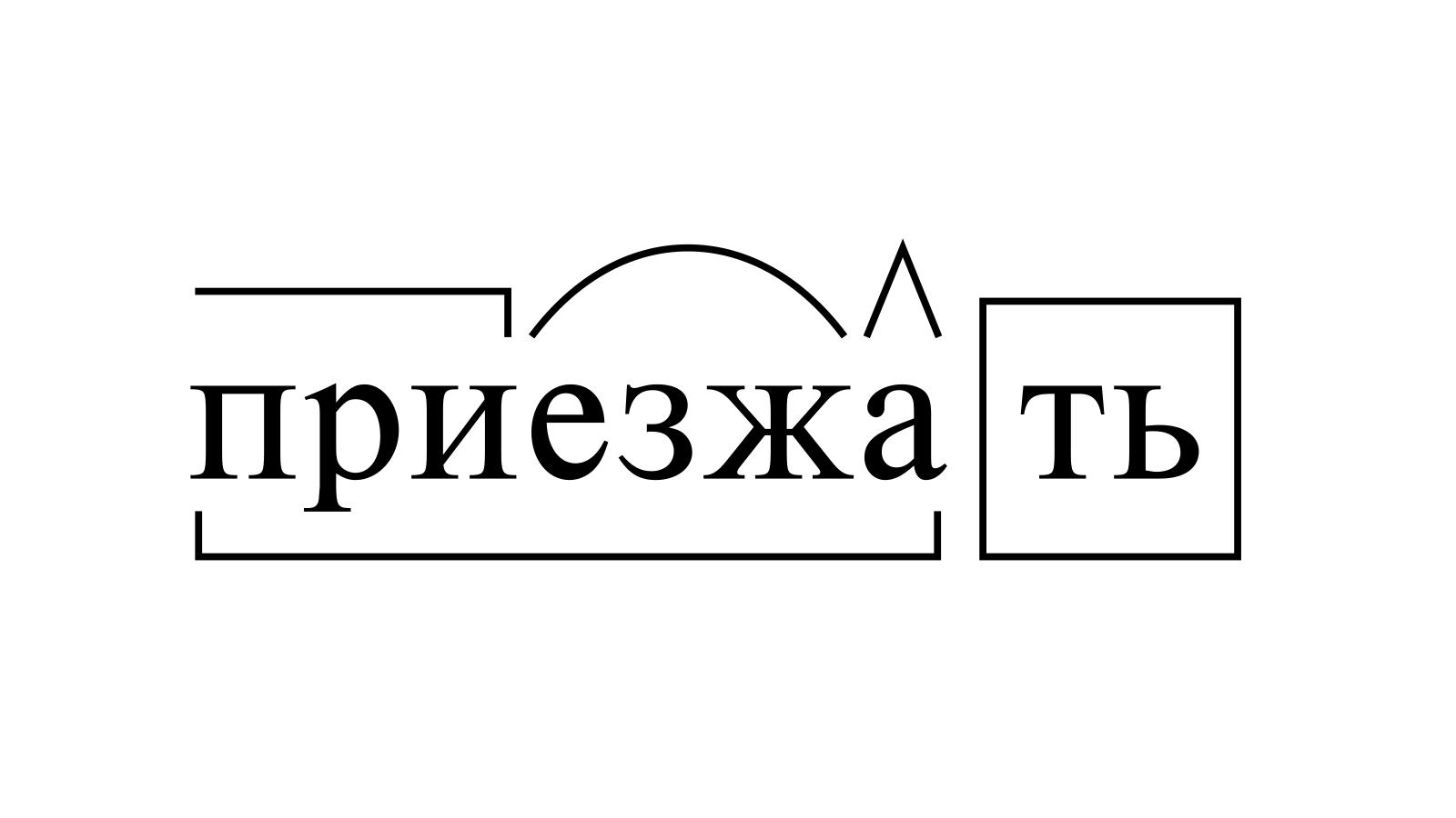 Разбор слова «приезжать» по составу