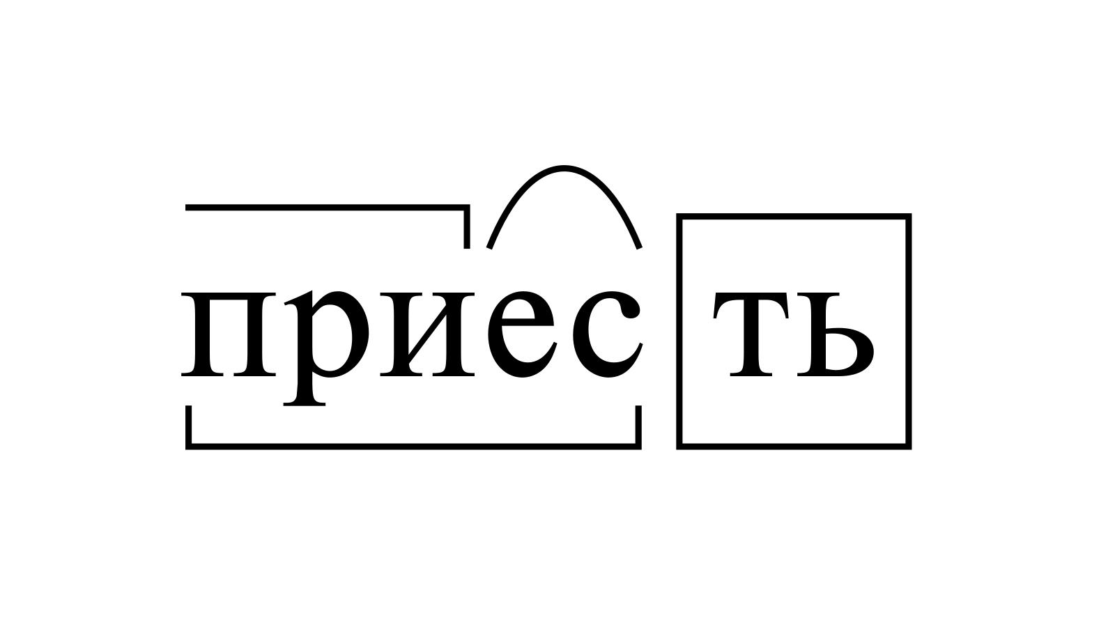 Разбор слова «приесть» по составу