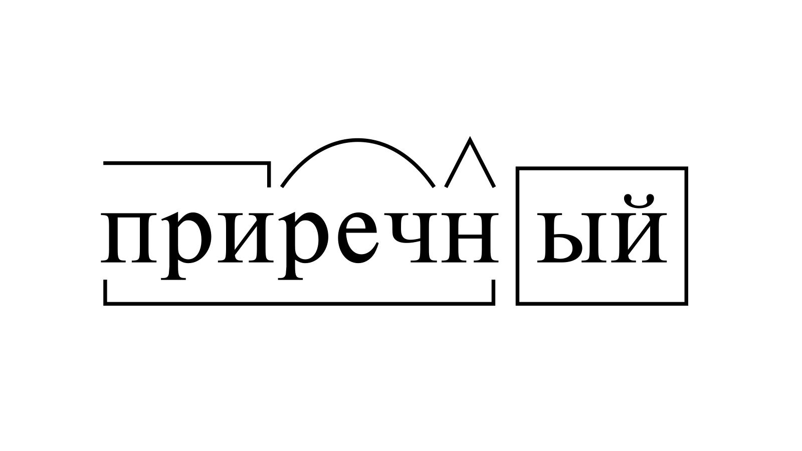 Разбор слова «приречный» по составу