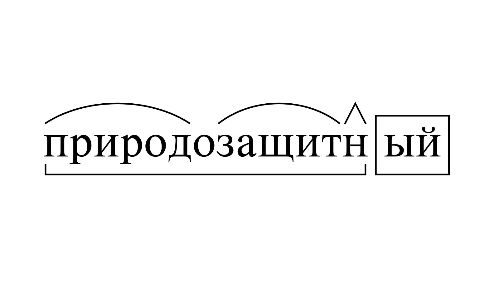 Разбор слова «природозащитный» по составу