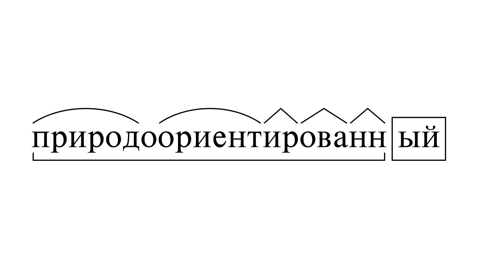 Разбор слова «природоориентированный» по составу