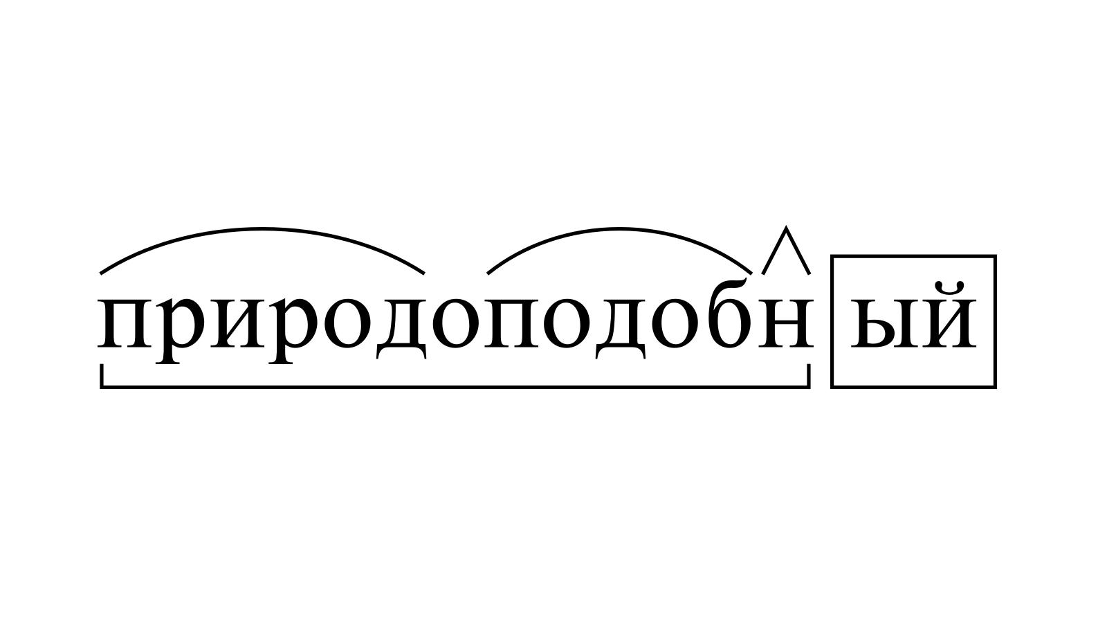 Разбор слова «природоподобный» по составу