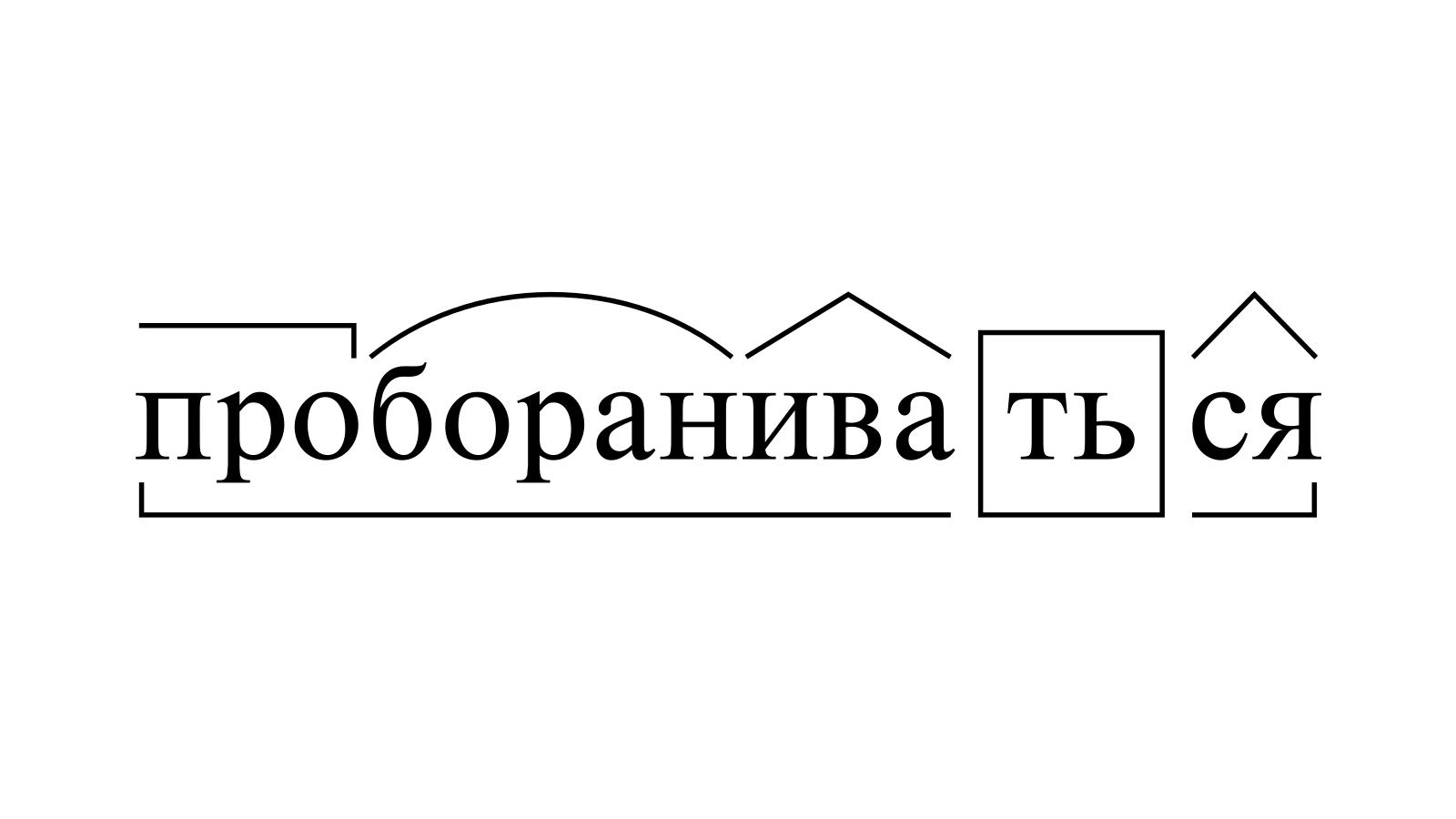Разбор слова «пробораниваться» по составу