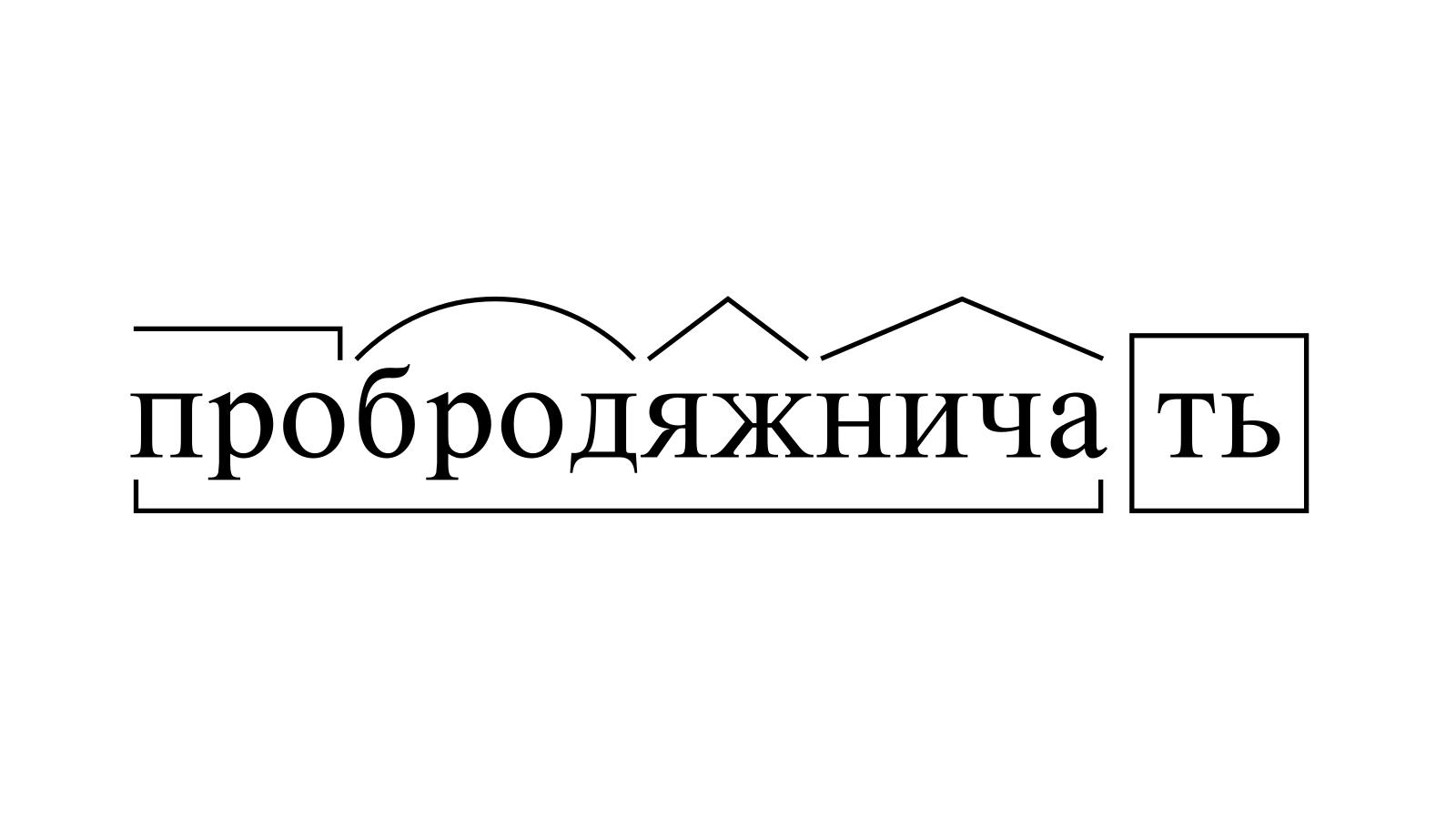 Разбор слова «пробродяжничать» по составу
