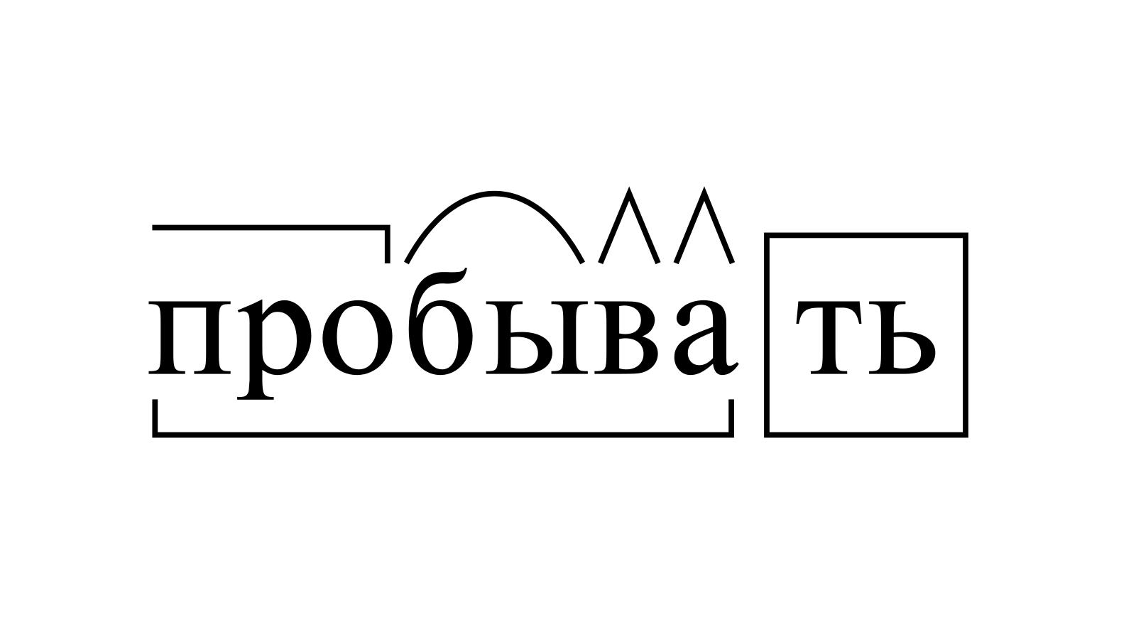 Разбор слова «пробывать» по составу