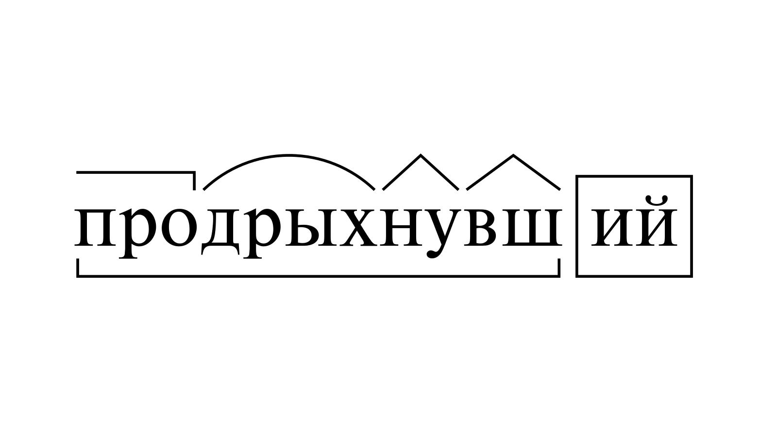 Разбор слова «продрыхнувший» по составу