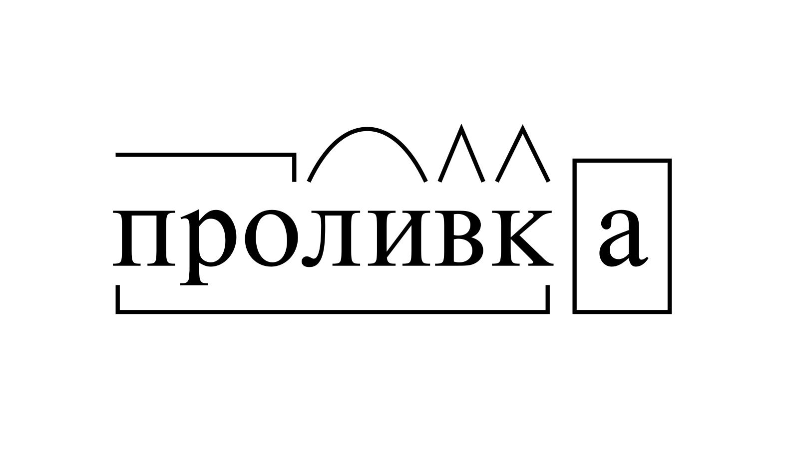 Разбор слова «проливка» по составу
