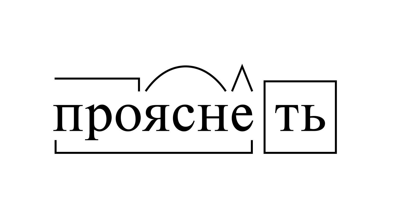 Разбор слова «прояснеть» по составу