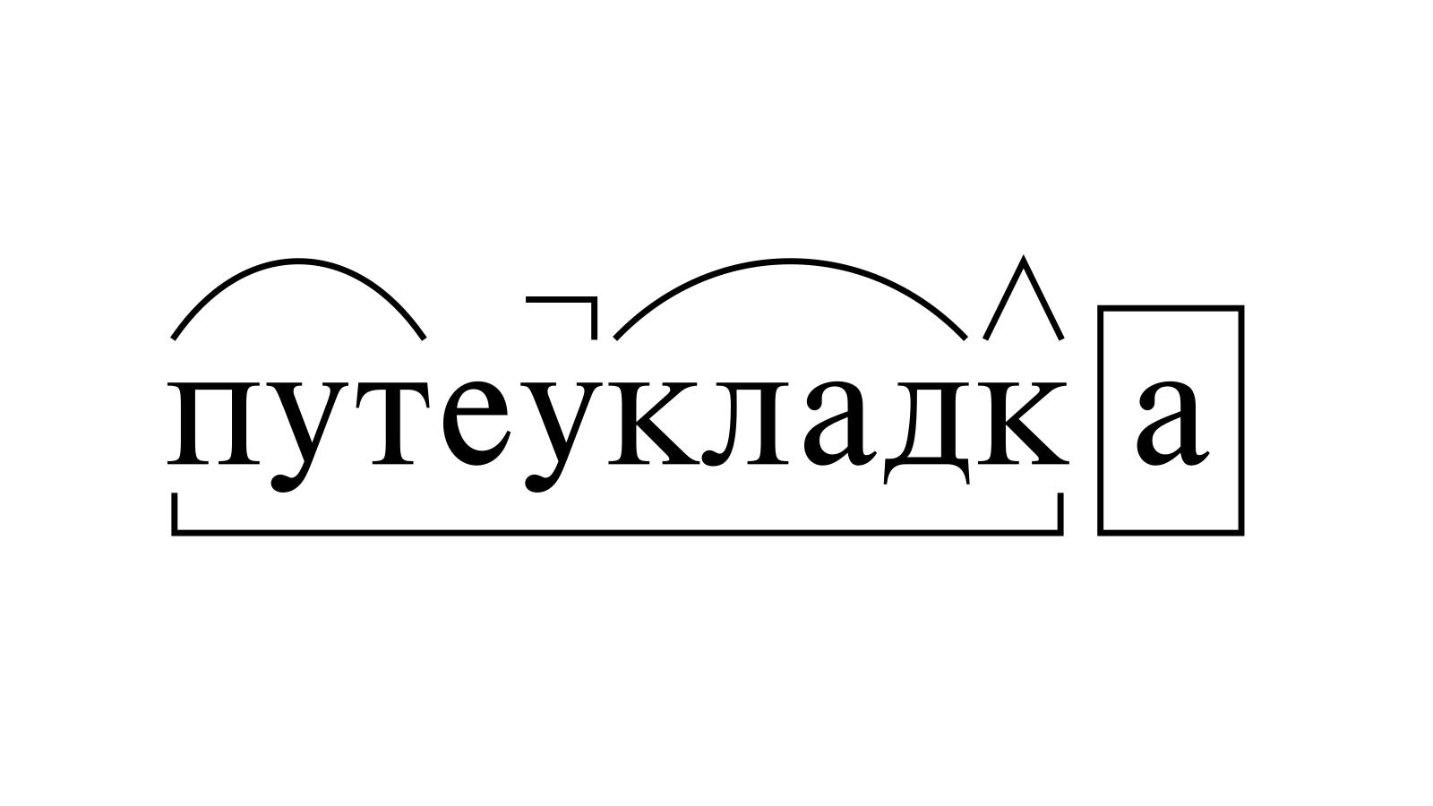 Разбор слова «путеукладка» по составу