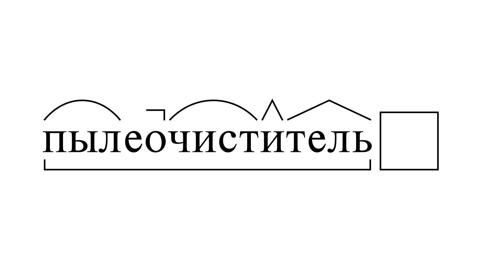 Разбор слова «пылеочиститель» по составу
