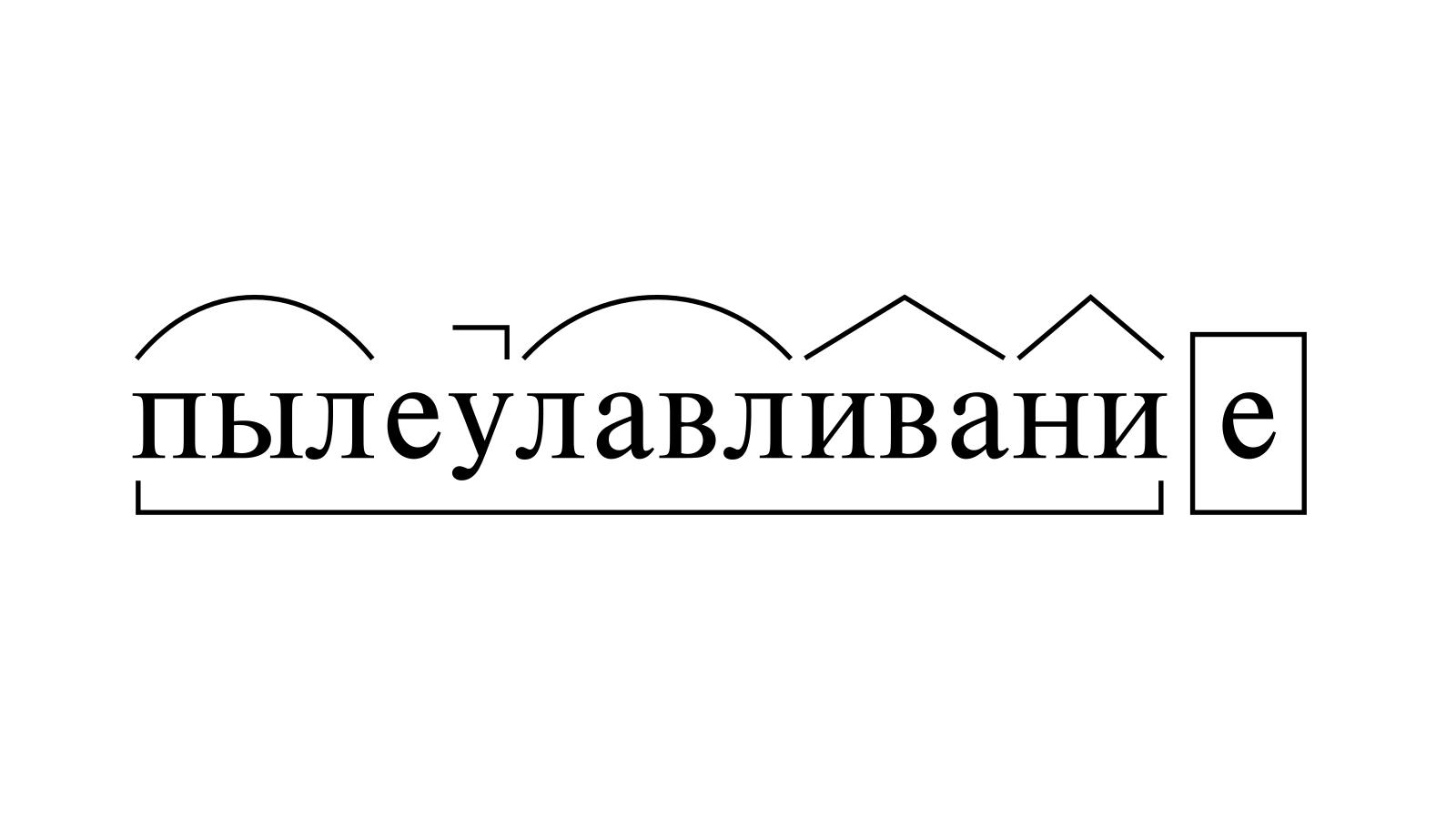 Разбор слова «пылеулавливание» по составу